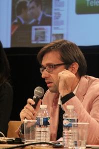 Cyril Petit lors de la table ronde sur les supports mobiles.