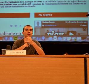 Nicolas Becquet, journaliste multimédia.