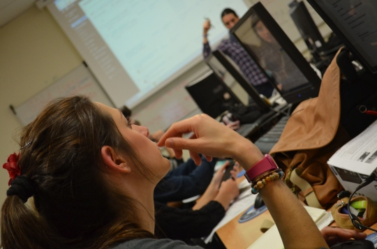 Les étudiants en journalisme innovent.