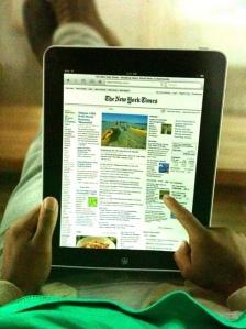 La tablette : un moyen d'information de plus en plus utilisé.